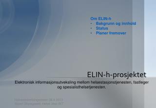 ELIN-h-prosjektet