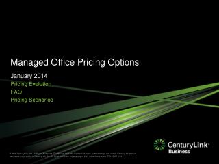 Managed Office Pricing Options