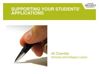 Supporting your students� applications