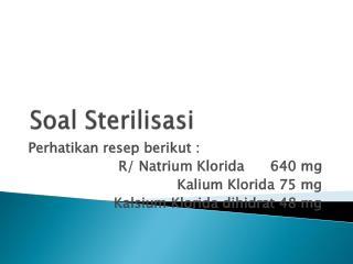 Soal Sterilisasi