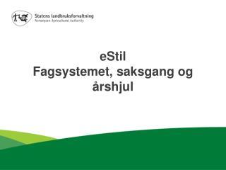 eStil Fagsystemet, saksgang og  årshjul