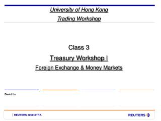 University of Hong Kong Trading Workshop