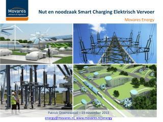 Nut en noodzaak Smart  Charging  Elektrisch Vervoer
