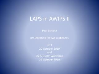 LAPS in AWIPS II