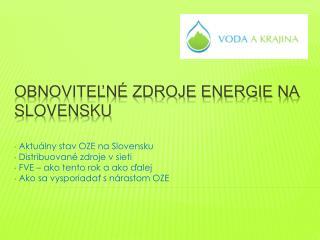 Obnoviteľné zdroje energie na Slovensku