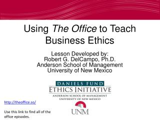 Using  The Office  to Teach Business Ethics