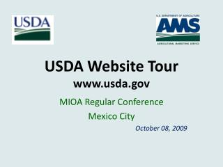 USDA Website Tour usda