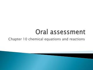 Oral assessment