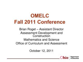 OMELC  Fall 2011 Conference