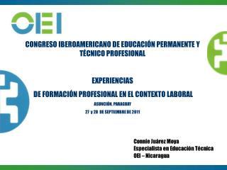 CONGRESO IBEROAMERICANO DE EDUCACIÓN PERMANENTE Y TÉCNICO PROFESIONAL EXPERIENCIAS