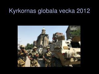 Kyrkornas globala vecka  2012