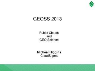 GEOSS 2013