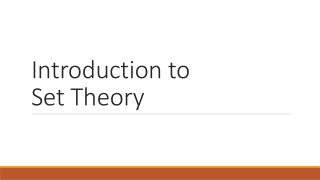 Introduction to  Set Theory