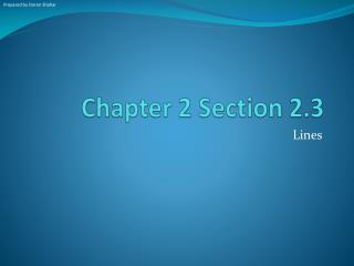 Chapter 2 Section 2.3