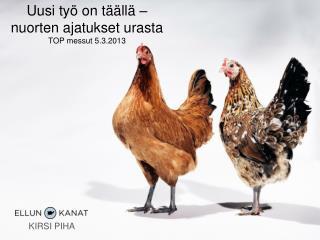 Uusi työ on täällä – nuorten ajatukset urasta TOP messut 5.3.2013