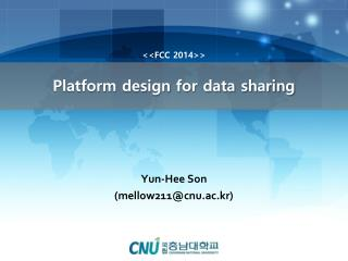 Platform design for data sharing