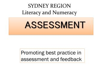 SYDNEY REGION Literacy and Numeracy