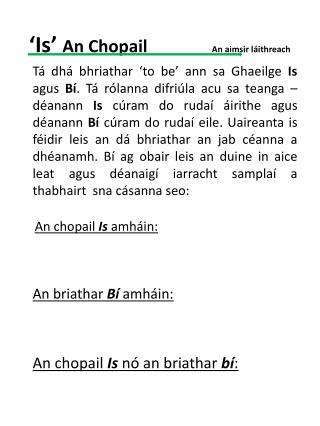 �Is�  An Chopail                An aimsir l�ithreach
