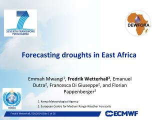 Forecasting  droughts  in East  Africa