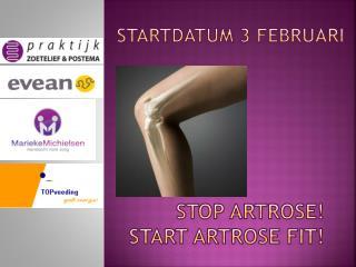 Stop Artrose! Start Artrose Fit!