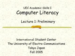 UEC Academic Skills I
