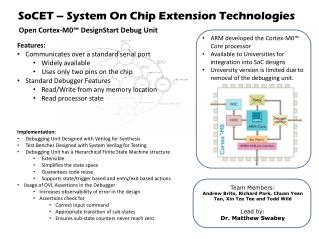 SoCET  – System On Chip Extension Technologies