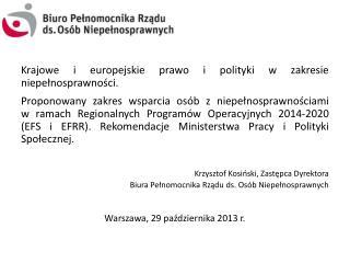 Krajowe i europejskie prawo i polityki w zakresie niepełnosprawności.