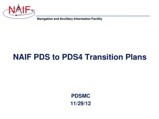 NAIF PDS to PDS4 Transition Plans