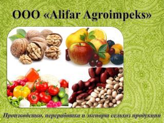 OOO « Alifar Agroimpeks »