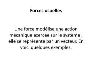 – Force gravitationnelle