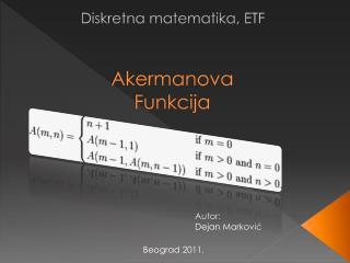 Akermanova Funkcija