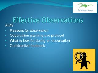 Effective Observations