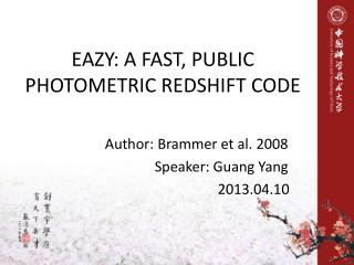 EAZY: A FAST, PUBLIC PHOTOMETRIC REDSHIFT CODE