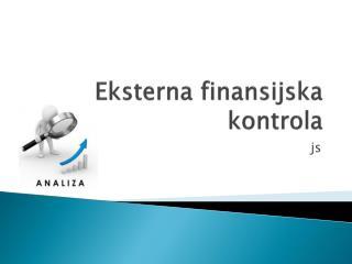 Eksterna finansijska kontrola
