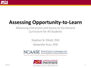 Assessing Opportunity-to-Learn