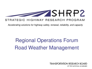WEATHER RESPONSIVE TRAFFIC MANAGEMENT WRTM