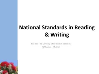 National Standards in Reading & Writing