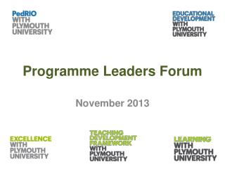 Programme Leaders Forum