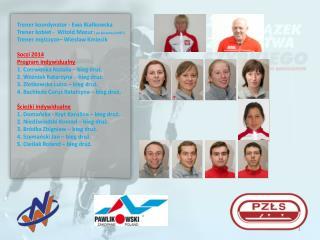 Trener koordynator - Ewa Białkowska Trener kobiet -  Witold Mazur  ( po akceptacji  MSiT )