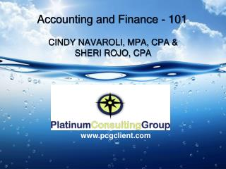 Accounting and Finance - 101