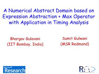 A Numerical Abstract Domain based on Expression Abstraction  Max Operator with Application in Timing Analysis