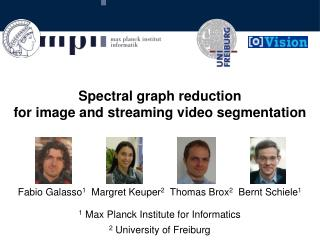 Spectral graph reduction for image and streaming video segmentation