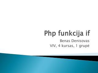 Php funkcija  if