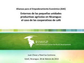 Alianzas para el Empoderamiento Económico (AAE) Entornos de las pequeñas unidades