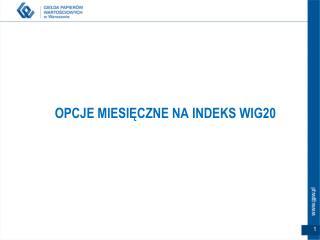 OPCJE MIESIĘCZNE NA INDEKS WIG20