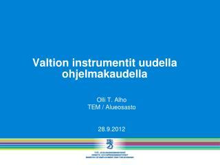 Valtion instrumentit uudella ohjelmakaudella
