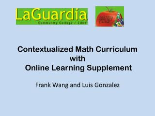 Contextualized Math Curriculum with  Online Learning Supplement