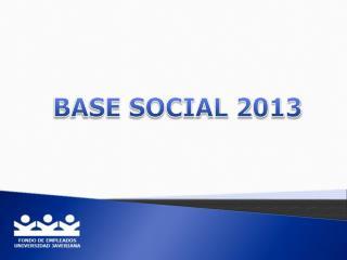 BASE SOCIAL 2013
