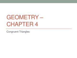 Geometry – Chapter 4