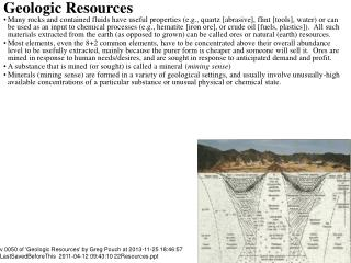 Geologic Resources